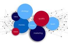 Шаблон сети абстрактных кругов вектора infographic Стоковая Фотография