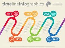 Шаблон сети вектора временной последовательности по Infographic Граница временной рамки tenden Стоковая Фотография