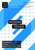 Шаблон современного дизайна плана, абстрактная предпосылка Стоковое Изображение RF