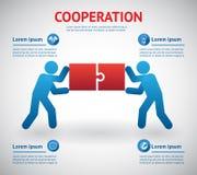Шаблон сотрудничества и сыгранности иллюстрация вектора
