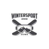 Шаблон спорта зимы Стоковые Фотографии RF