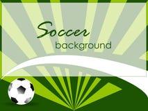 Шаблон спорта с футбольным мячом Стоковые Изображения RF