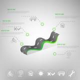 Шаблон срока infographic также вектор иллюстрации притяжки corel Стоковая Фотография RF