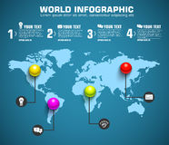 Шаблон сферы дела infographic с текстом Стоковая Фотография RF