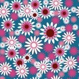 Шаблон с красивыми белыми и розовыми цветками иллюстрация вектора