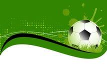 Шаблон с футболом, шарик спорта футбола Стоковое Изображение