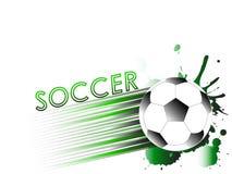 Шаблон с футболом, шарик спорта футбола Стоковая Фотография
