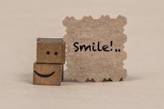 Шаблон улыбки с значком smiley куба Стоковые Фотографии RF