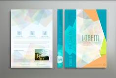 Шаблон цвета вектора: крышка, рогулька, брошюра, книга, busi отчета Стоковые Фото