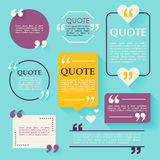 Шаблон цитаты пустой Элементы дизайна, temp визитной карточки круга иллюстрация штока