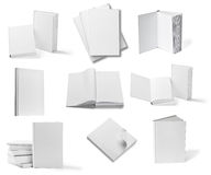 Шаблон чистого листа бумаги учебника тетради книги белый Стоковое фото RF