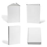 Шаблон чистого листа бумаги учебника тетради книги белый Стоковые Изображения RF