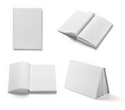 Шаблон чистого листа бумаги учебника тетради книги белый Стоковое Изображение