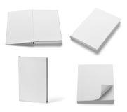 Шаблон чистого листа бумаги учебника тетради книги белый Стоковые Изображения