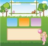 Шаблон шаржа ребенка для вебсайта Стоковые Фотографии RF