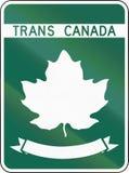 Шаблон шоссе Транс-Канады бесплатная иллюстрация