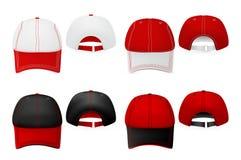 Шаблон шляп бейсбола бесплатная иллюстрация