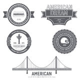Шаблон ярлыка Англии страны США страны элемента эмблемы для ваших продукта или дизайна, сети и передвижных применений Стоковая Фотография RF