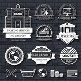 Шаблон ярлыка дела установленный элемента эмблемы для ваших продукта или дизайна, сети и передвижных применений с текстом вектор Стоковое Изображение