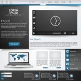 Шаблон для вебсайта, Стоковое Изображение RF