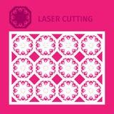 Шаблон для вырезывания лазера Стоковые Изображения