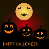 Шаблон для плаката счастливого хеллоуина Стоковая Фотография RF