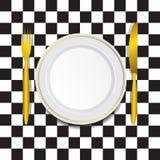 Шаблон для ресторана Стоковые Фотографии RF