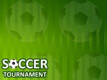 Шаблон для турнира футбола приглашения Стоковые Фото