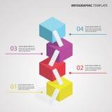 шаблон 3D Infographic Стоковая Фотография RF