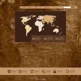Шаблон Grunge вебсайта Стоковая Фотография RF