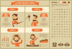 Шаблон Infographic дизайна музыки плоский Стоковая Фотография RF