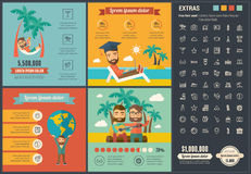 Шаблон Infographic дизайна перемещения плоский Стоковые Фотографии RF