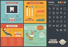 Шаблон Infographic дизайна стоматологии плоский Стоковые Фото