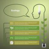 Шаблон infographic Концепция возобновляющей энергии Стоковое Изображение