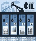 Шаблон Infographic нефтедобывающей промышленности Стоковое Изображение