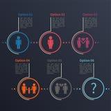 Шаблон Infographic, отношение Стоковое Изображение RF