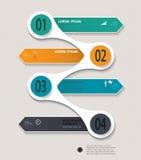 Шаблон Infographic постепенный смогите быть использовано для плана потока операций, Стоковое Фото