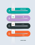 Шаблон Infographic постепенный Стоковые Изображения RF