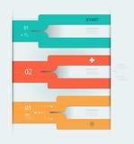 Шаблон Infographic постепенный Стоковая Фотография