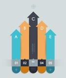 Шаблон Infographic постепенный Стоковые Изображения