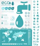 Шаблон Infographic сохранения воды Стоковые Фотографии RF