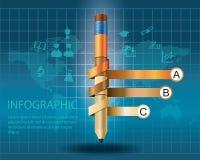Шаблон Infographic с карандашем бесплатная иллюстрация