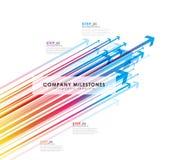 Шаблон Infographic с стрелками и 4 шагами Стоковое Изображение