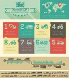Шаблон Infographic транспорта. Стоковые Изображения RF