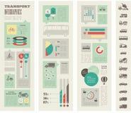 Шаблон Infographic транспорта Стоковое Изображение RF