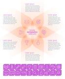 Шаблон Infographic школы Стоковые Изображения