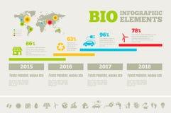 Шаблон Infographic экологичности Стоковое Изображение RF