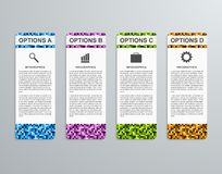 Шаблон infographics абстрактных вариантов дела 3D бумажный Стоковое фото RF