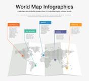 Шаблон infographics карты мира красочный Стоковое Изображение RF