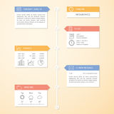 Шаблон infographics срока иллюстрация вектора